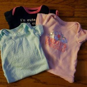 Gently used newborn onesies
